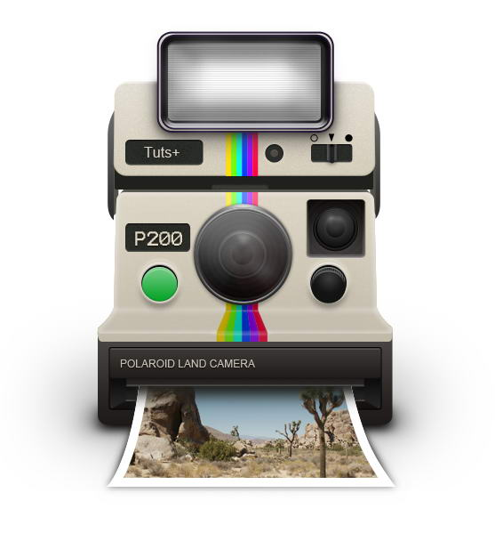 Link toHow to draw a vintage polaroid camera icon
