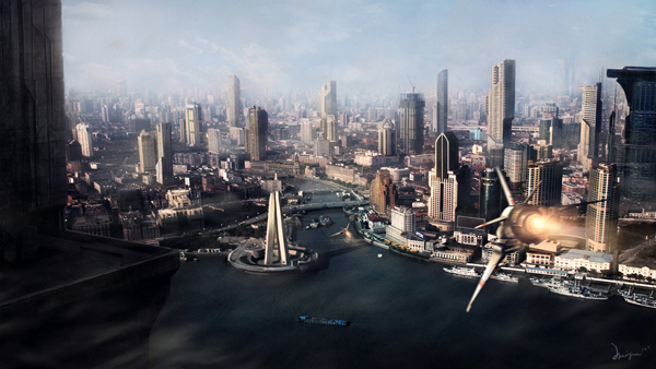20 Stunning Matte Paintings of Cities