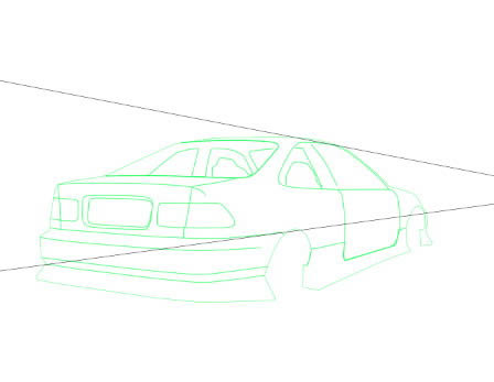 Line Drawing Car : Create an automobile illustration from scratch in photoshop