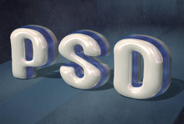 how to give 3d text effect in photoshop