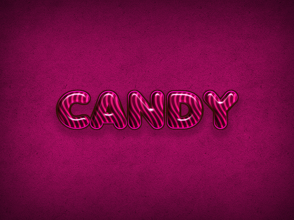 Quick tip: create a candy flavored text effect in photoshop