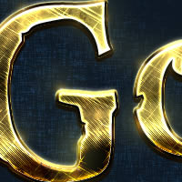 Preview for Quick Tip: Create a Shiny, Gold, Old World Text Effect in Photoshop