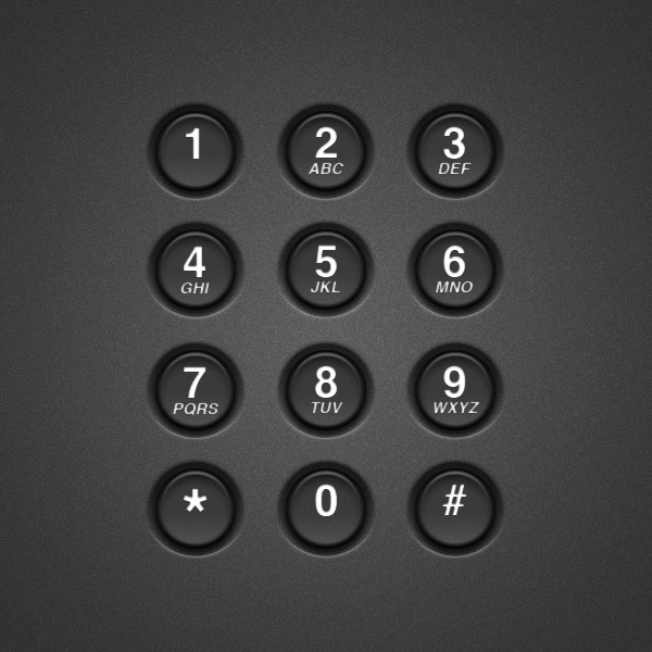Link toCreate a realistic telephone keypad using layer styles