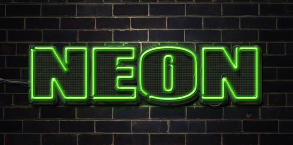 quick tip create a neon text effect in photoshop. Black Bedroom Furniture Sets. Home Design Ideas