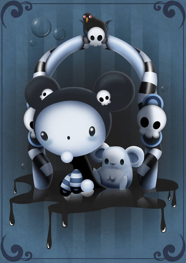 Link toCreate a cute and scary children's illustration in photoshop