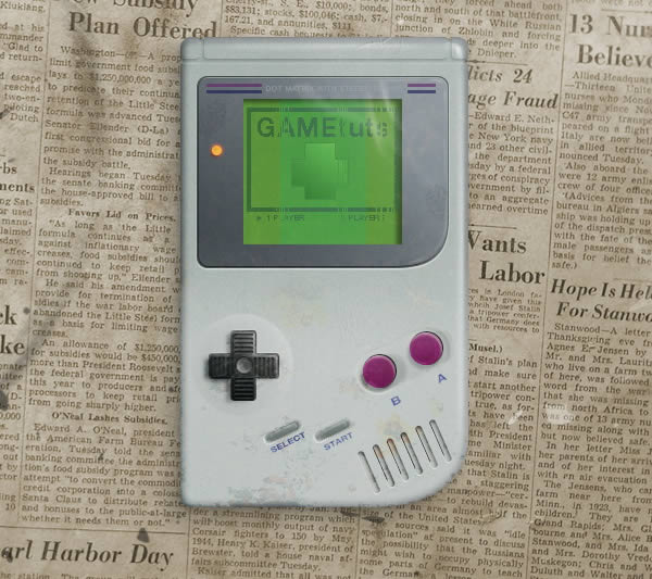 Draw a retro gameboy from scratch in photoshop