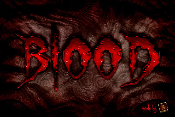 Quick tip: create a bloody text effect in photoshop using layer styles