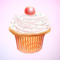 Preview for Create a Tasty Cupcake Icon in Photoshop