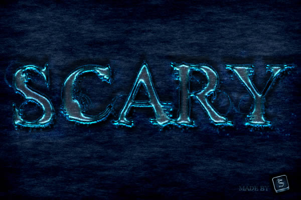 "Quick tip: create a ""scary"" text effect in photoshop"
