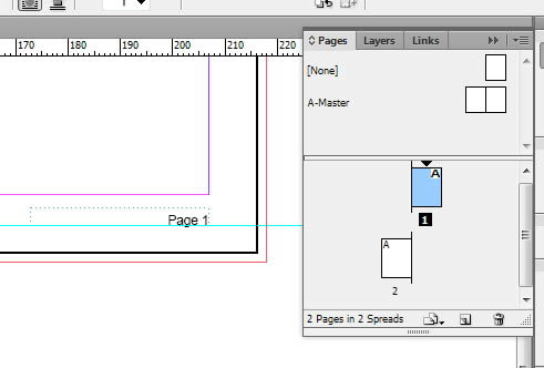 how to make page number on indesign