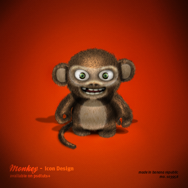 Link toCreate an evil 3d monkey icon in photoshop