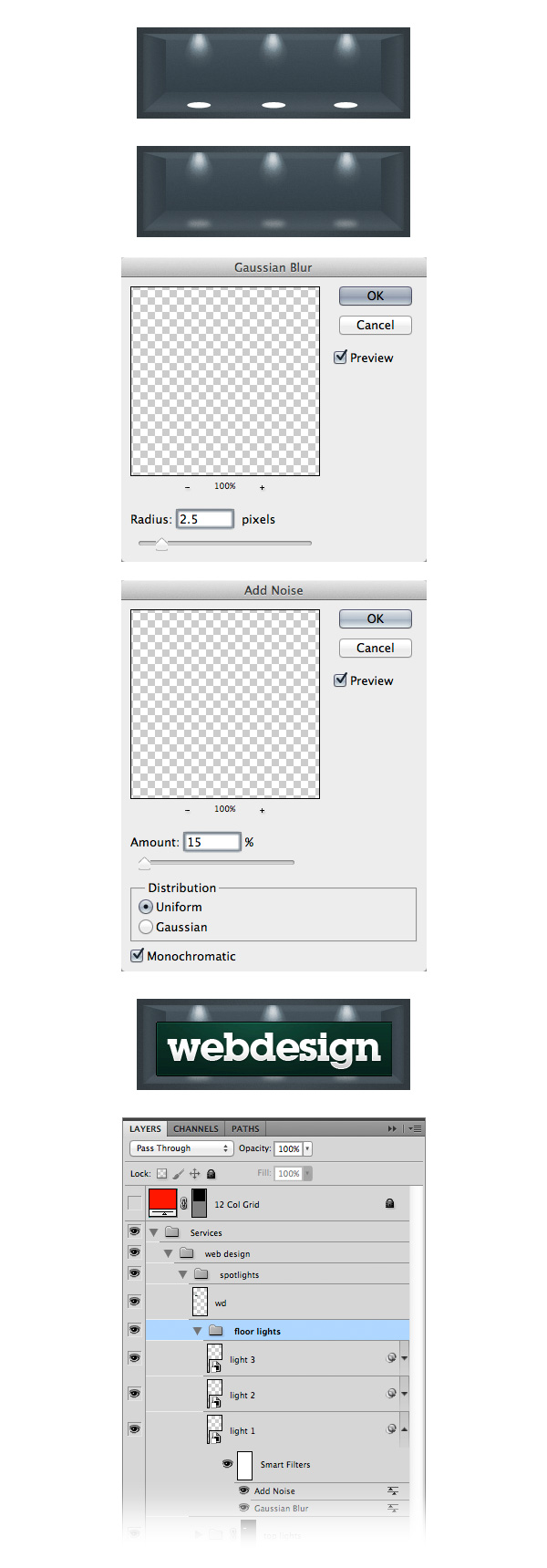 how to set guide in middle of image photoshop
