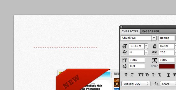 Как сделать швейную строчку в фотошопе
