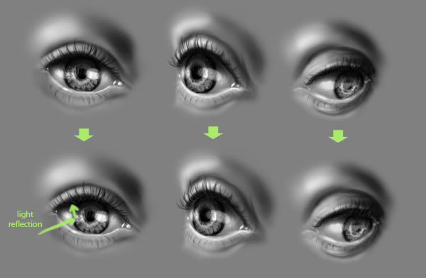 quick tip how to draw realistic eyes in photoshop