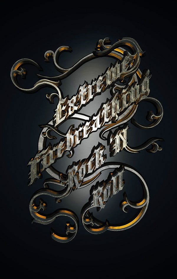 Link toCreate a metallic type treatment using photoshop and cinema 4d