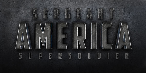 "Quick Tip: Create a Cinematic ""Sergeant America"" Text Effect"