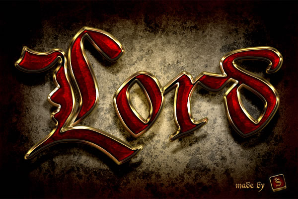 Link toQuick tip: create a royal gold text effect in photoshop using layer styles