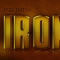 "Preview for Quick Tip: Create an ""IronHero"" Text Effect in Photoshop"