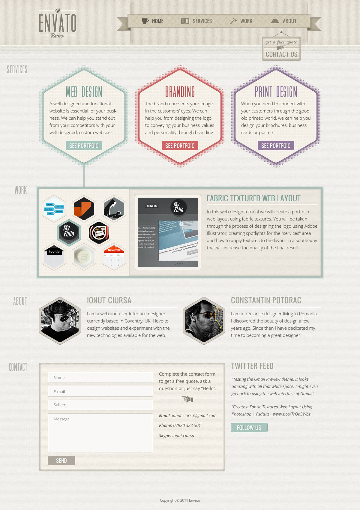 Create a one page retro web design layout in photoshop for Draw website layout online