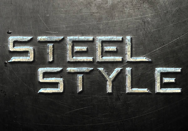 Link toQuick tip: create a steel text effect in photoshop