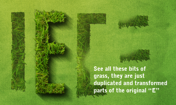 Create the Grass Text