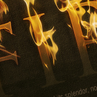 Preview for Dramatic Text on Fire Effect in Photoshop