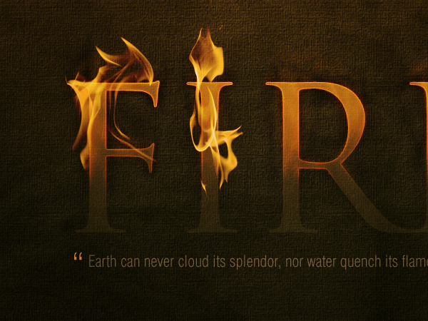 Dramatic Text on Fire Effect in Photoshop