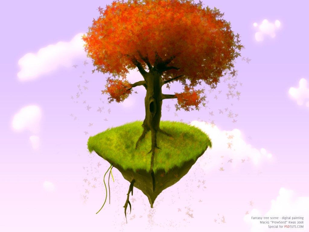 Digitally Paint A Fantasy Tree Scene