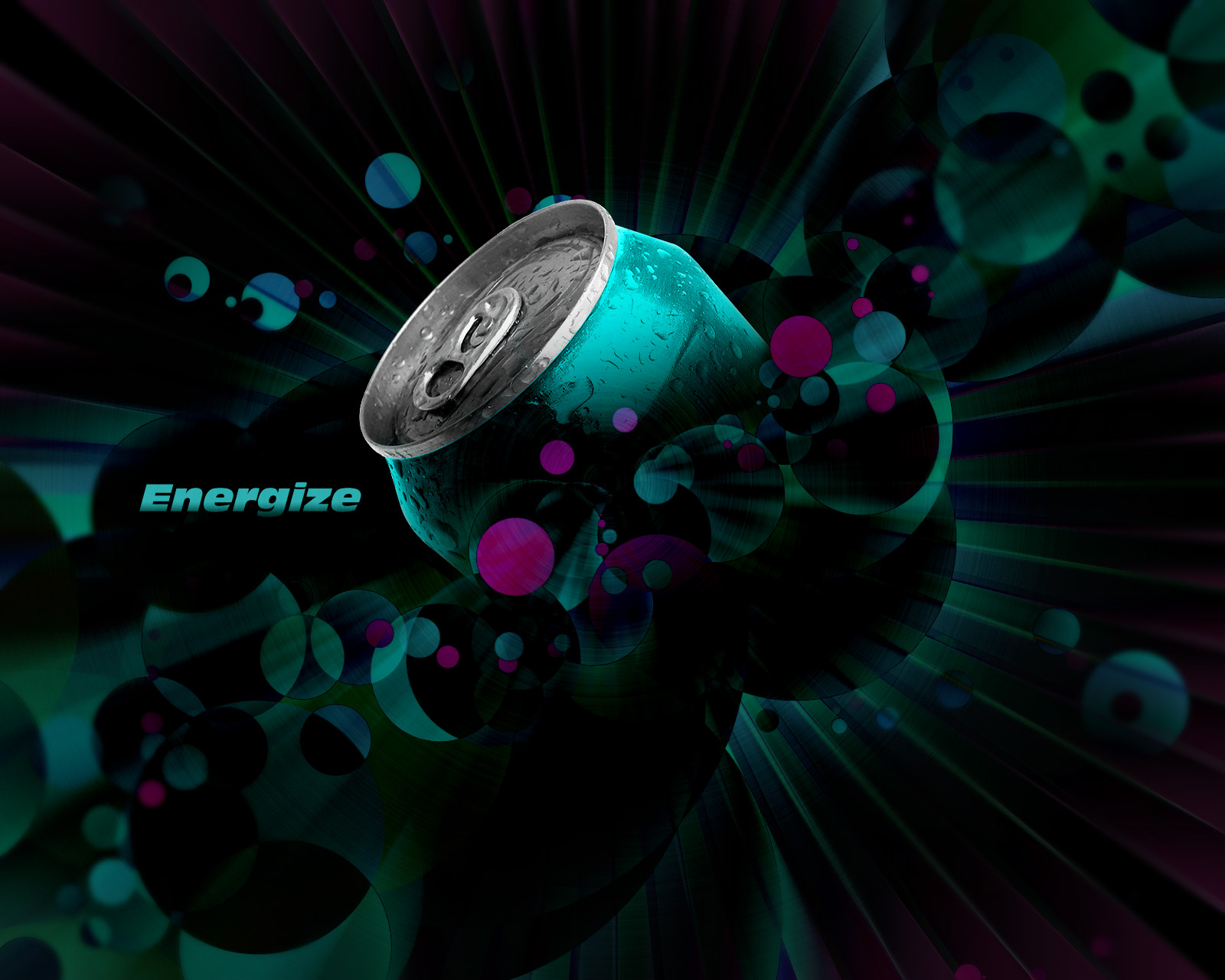 Create an Energy Drink Ad Design
