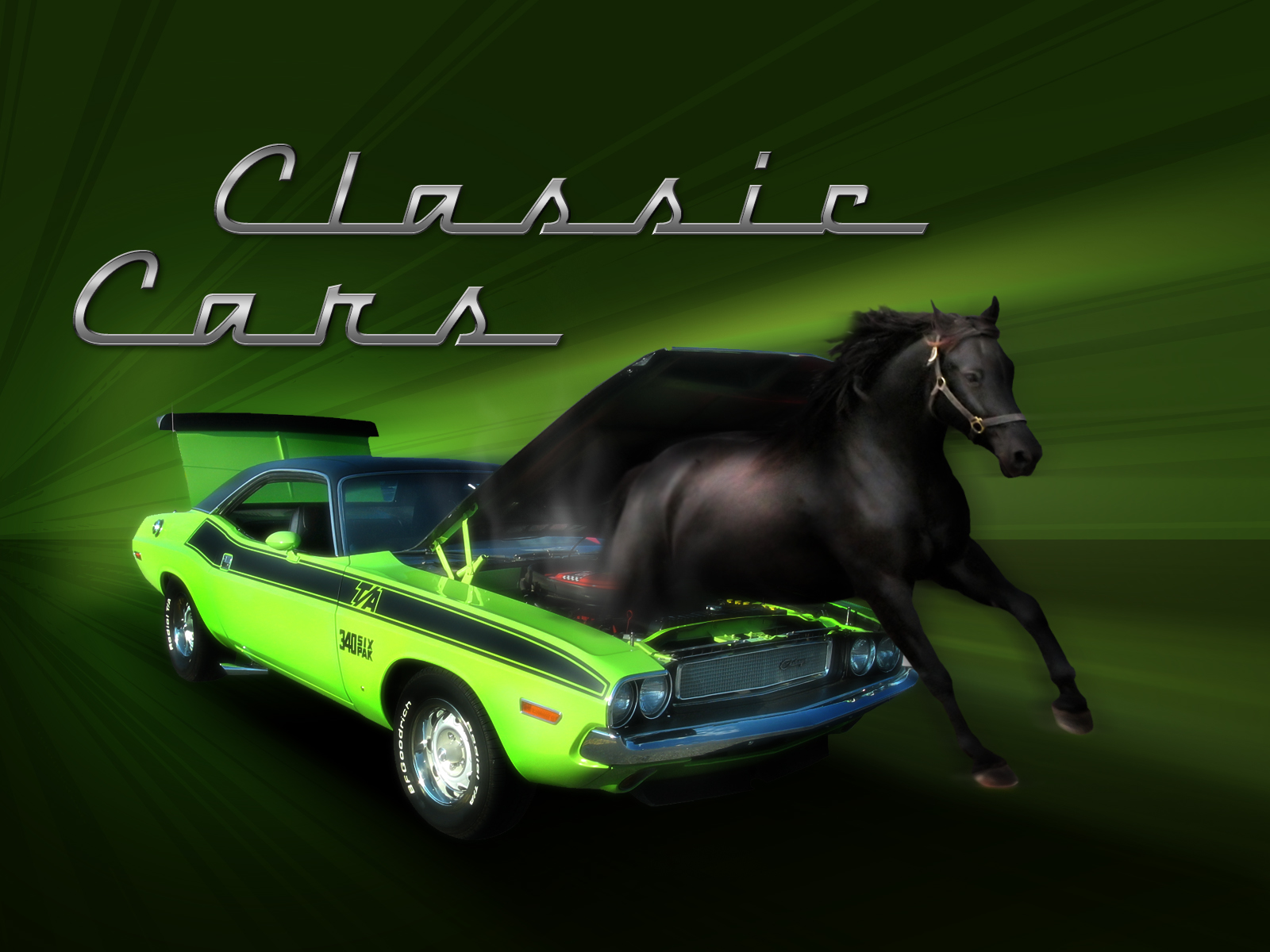 Design A Classic Muscle Car Concept Depicting Horse Power