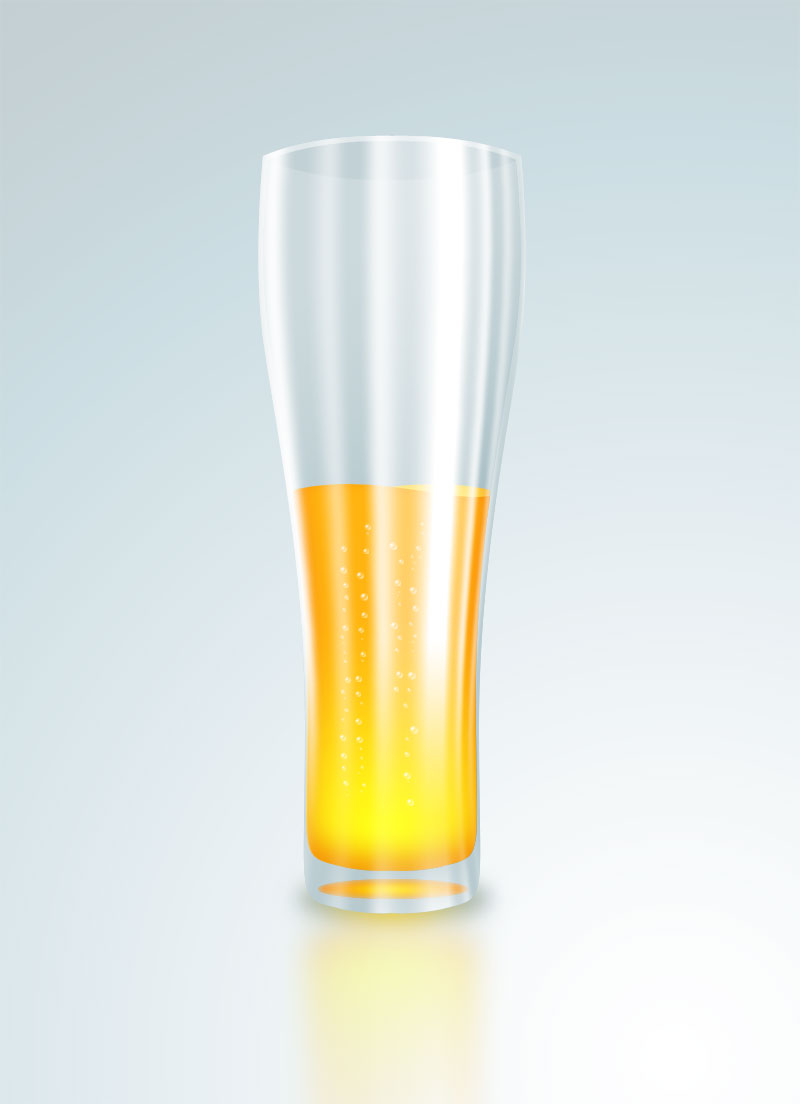 Draw Glass Of Beer Photoshop