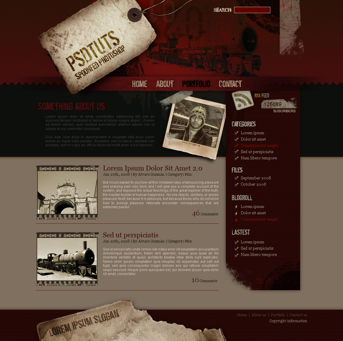 To create a grunge web design in photoshop conclusion baditri Image collections