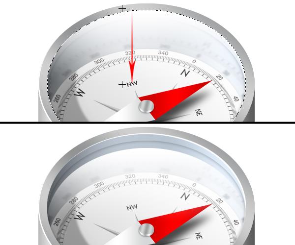 how to create a transparent compass photoshop