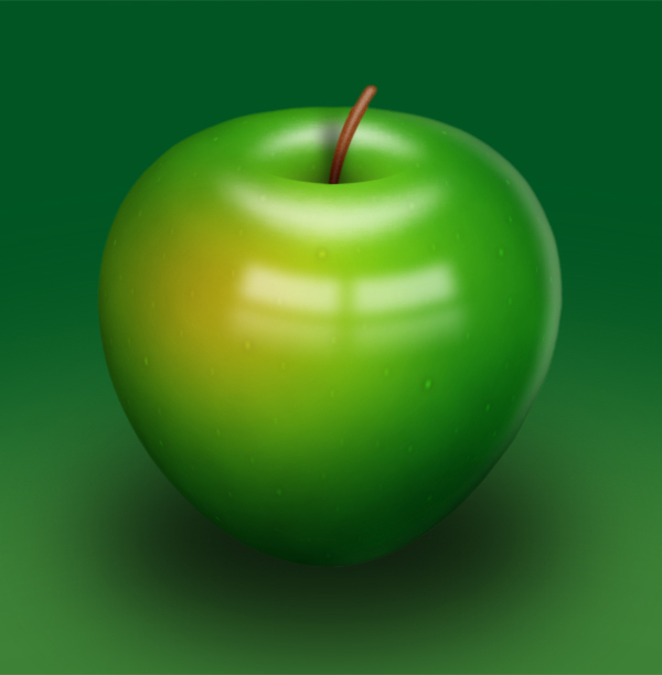delicious green apple illustration - photo #1