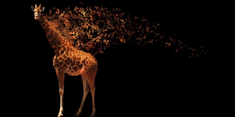 how to make a musical giraffe digital illustration