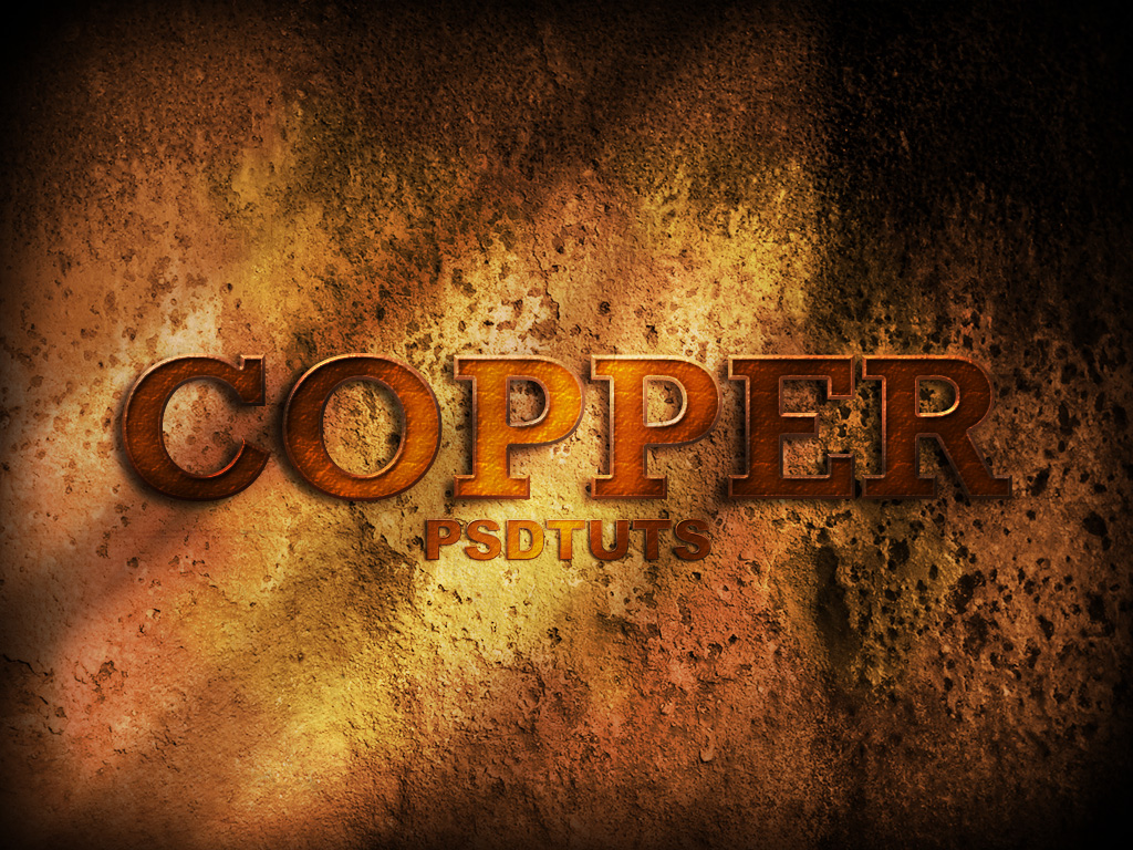 How to create a copper photoshop text effect final click baditri Images