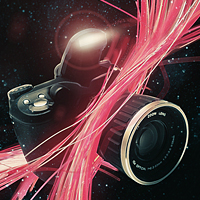 Preview for How to Digitally Illustrate a Camera with Light Streaks