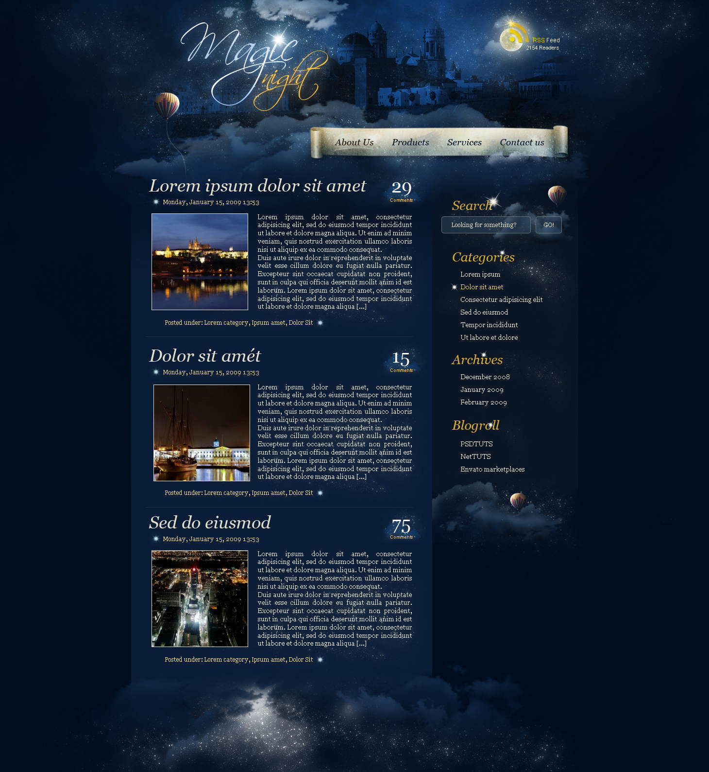 A magic night themed web design from scratch in photoshop create a magic night themed web design from scratch in photoshop baditri Image collections