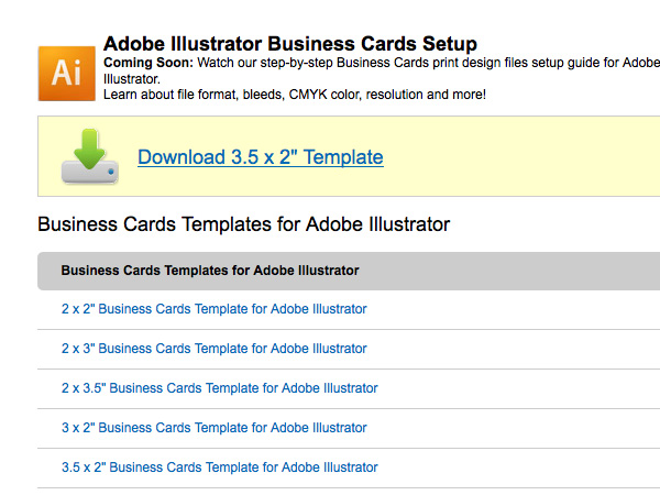Create A Business Card In Illustrator And Print It With UPrinting - Kinkos business card template