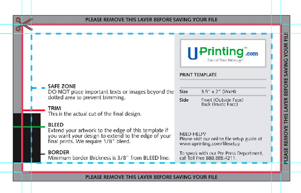 Create a business card in illustrator and print it with uprinting colours colourmoves
