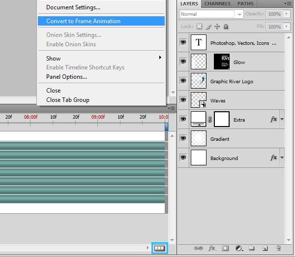 How to make animated gif in photoshop cs4
