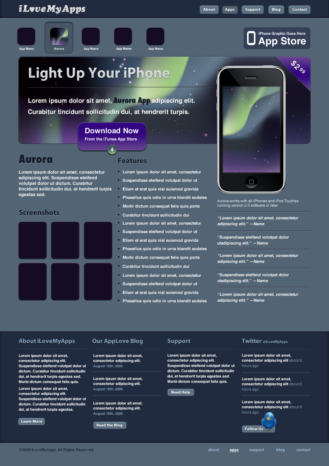 Create a promotional iphone app site in photoshop final baditri Gallery
