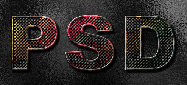 Link toHow to create eroded metal text with photoshop
