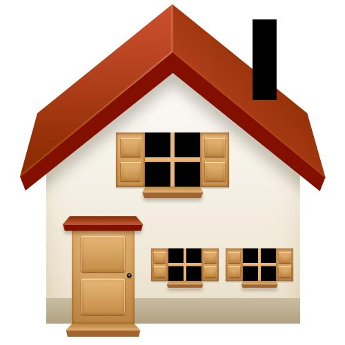 How to create a basic house icon in photoshop for Home designs com