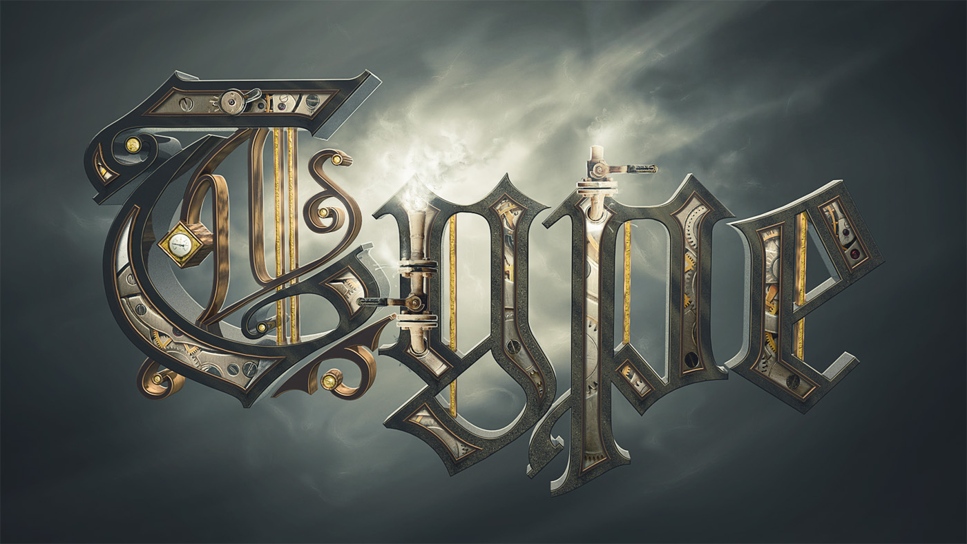 Create a steam powered typographic treatment part ii final image preview baditri Choice Image