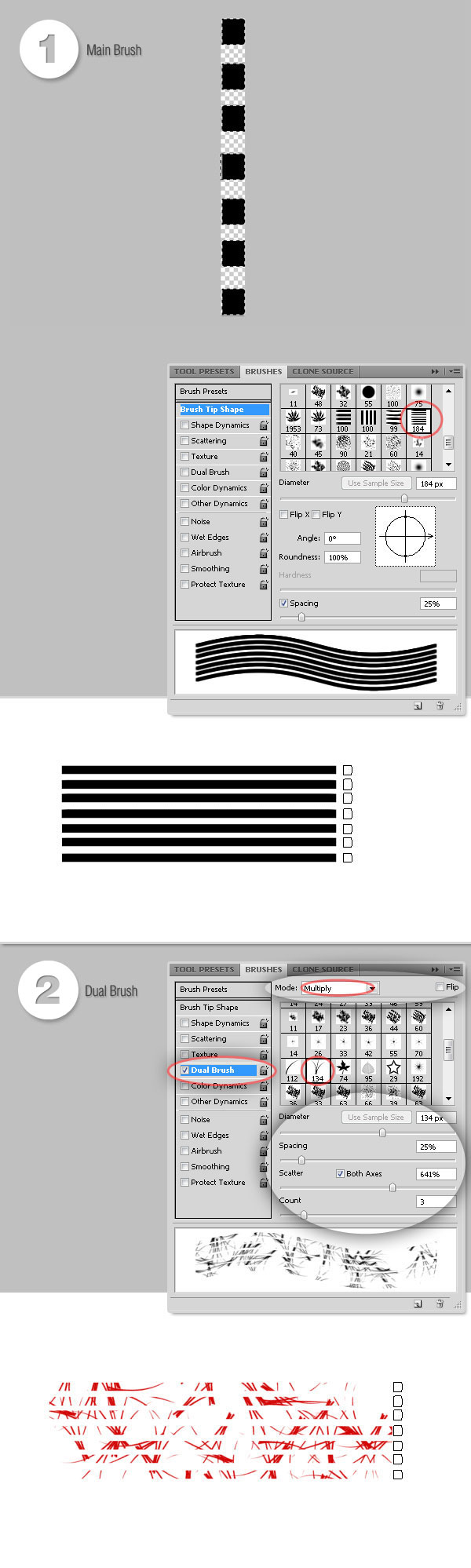How to create and define Photoshop Brushes