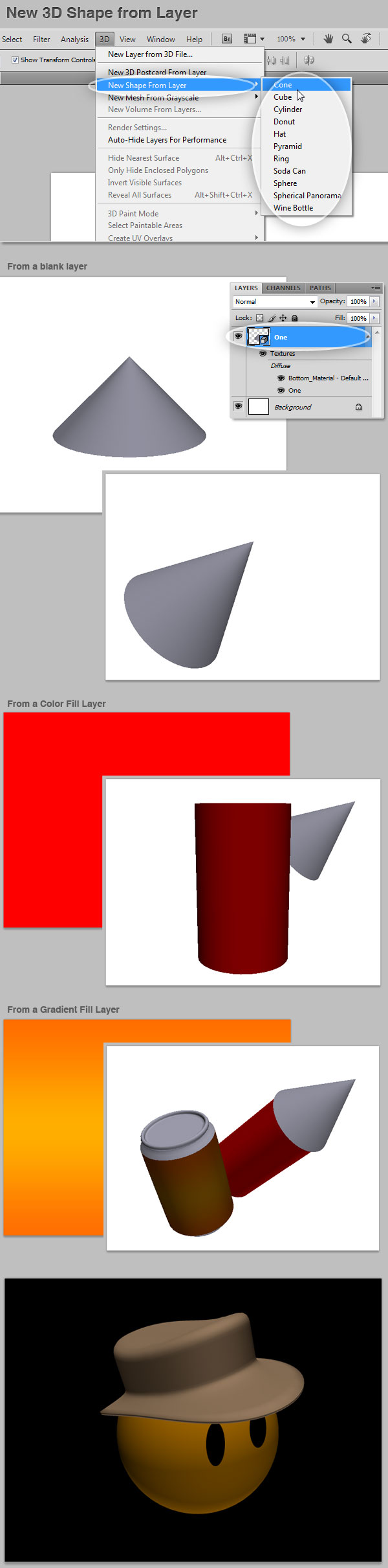 3D new shape form layer