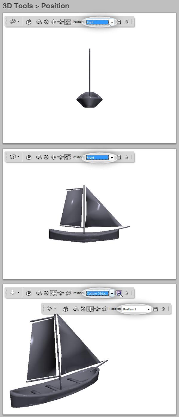 3D position preset