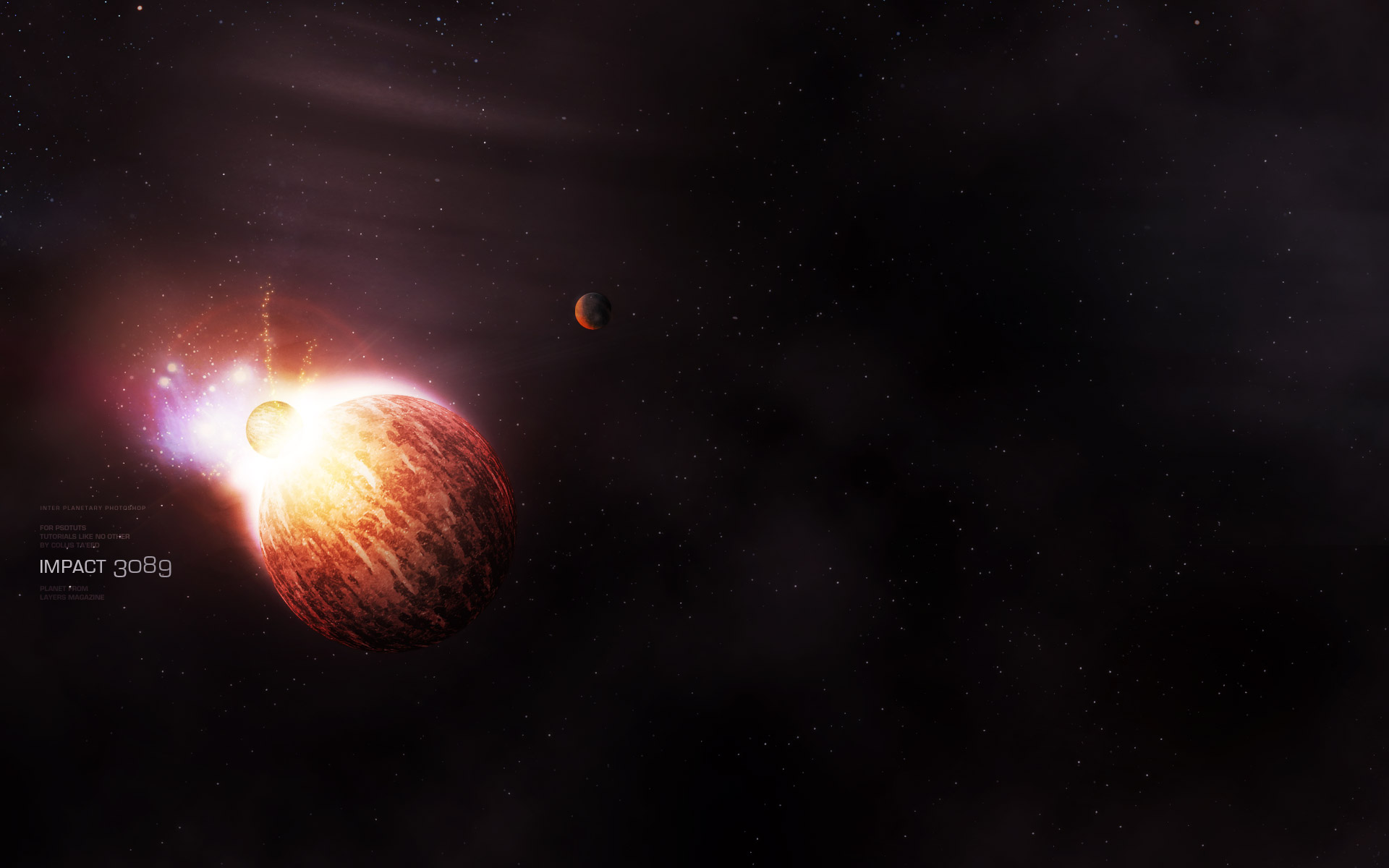 Fiery photoshop space explosion tutorial for Space tutorial