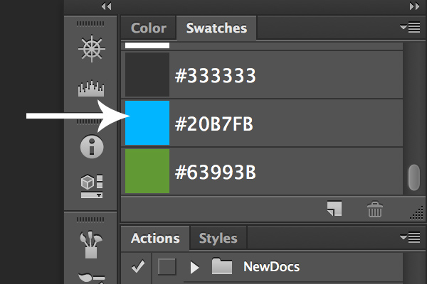 Link toImport swatches from css to photoshop